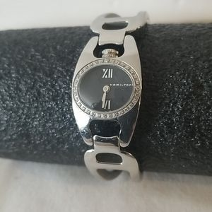 HAMILTON Ladies Silver Metal Band Watch NWOT
